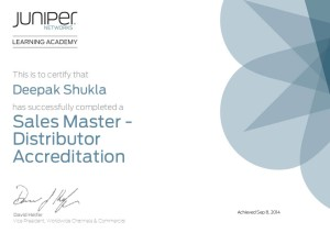 Certificate Sales Master-Distributer Accreditation