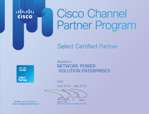 Cisco Select Certified Partner Certificate
