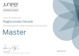 Juniper Technical Master